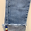 Thumbnail: Pale Denim Jeans with Belt & Turn-up Detail
