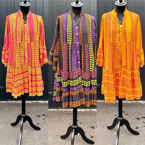 Lightweight Aztec Tunic Dress