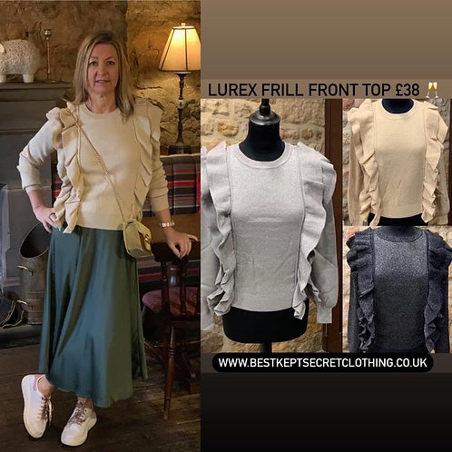 Lurex Frill Front Top