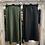 Thumbnail: Satin Maxi Skirt in khaki or black