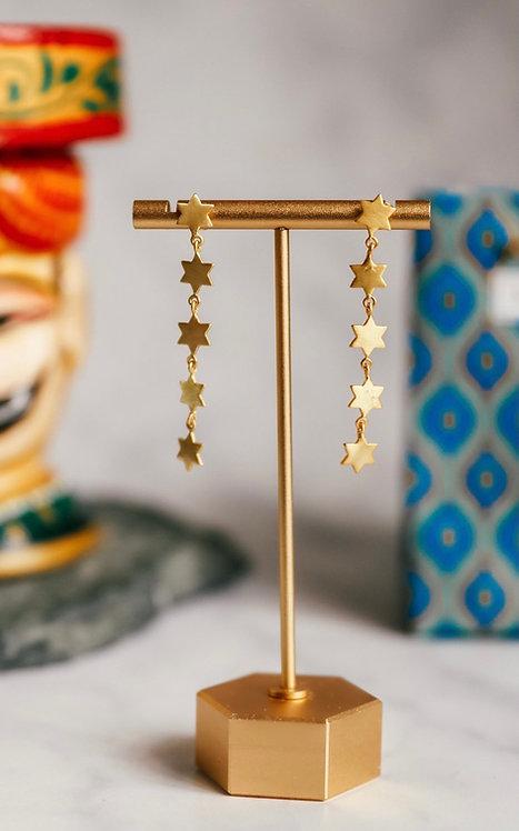 Multi Star Drop Earrings