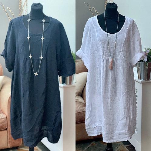 Italian Linen Tunic Dress