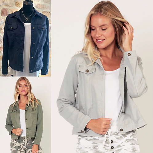 Demi Short Jacket with Jersey Sleeves