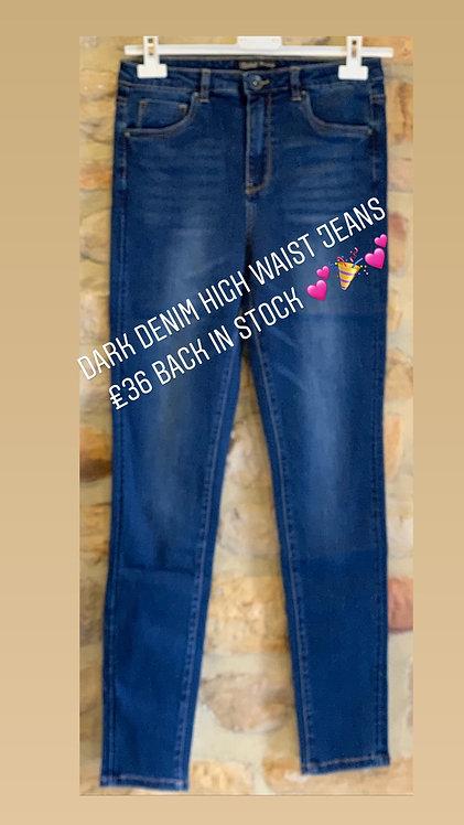 Dark Denim high waist jeans