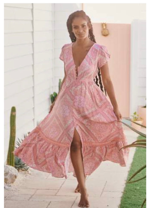 Cammy Dress in Pink Hues from the Aussie Collection