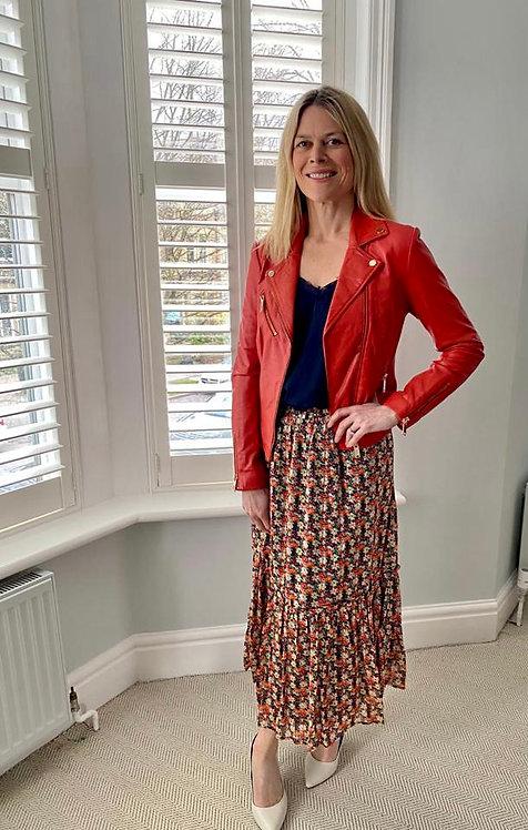 Rino & Pelle Printed Tiered Skirt