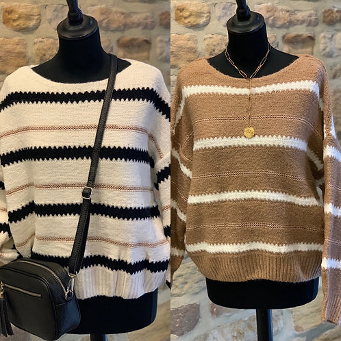 Stripe Chunky Knit Sweater
