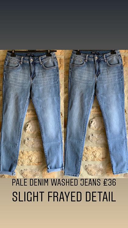 Pale denim washed jeans