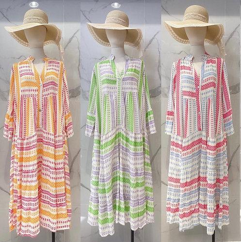 Roberta Italian Tiered Tunic Dress