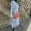 Thumbnail: Pisa Blue Tiered Tunic Dress Neon Trim