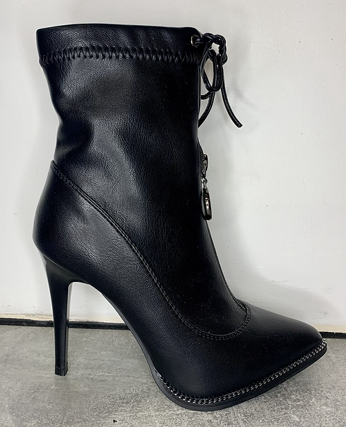 Black Spike Heel Ankle Boots