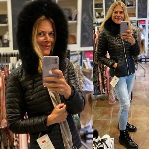 Oakwood Happy Leather Jacket with Fur Hood