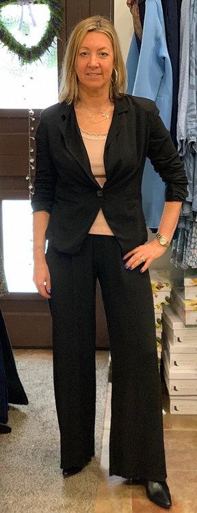 Black wide leg palazzos trousers