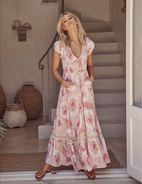 Cammy Dress in Pink Tie Dye Print from the Aussie Collection