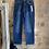 Thumbnail: Wide ankle high waist dark denim jeans
