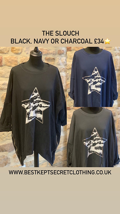The Slouch Sweater with Star Motif