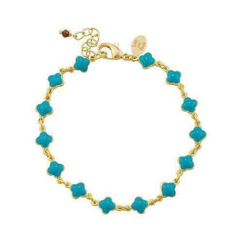 Clover enamel bracelet in three colours