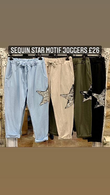 Star Motif Joggers
