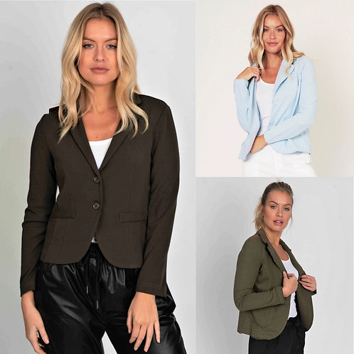 Suzy Unstructured Blazer with Raw Edges