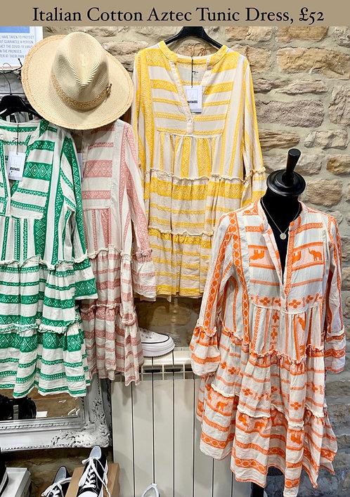 Italian Cotton Tunic Dress