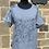Thumbnail: Cotton & Linen T-shirt Top with Sequin Rock Star Motif