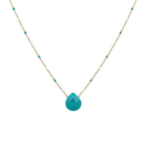 Paris Turquoise Candy pendant necklace