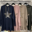 Thumbnail: Cotton Hoodie Tunic Dress with Star Motif