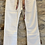 Thumbnail: Off White Flared Jeans with Frayed Hemline