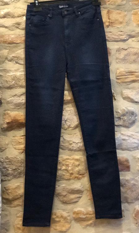 Navy blue high waist jeans