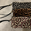 Thumbnail: Fur Print Leather Purse with wrist strap