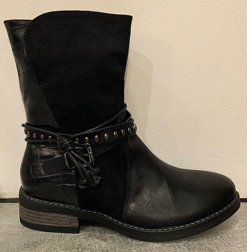 Moc Croc & Suedette Ankle Boots