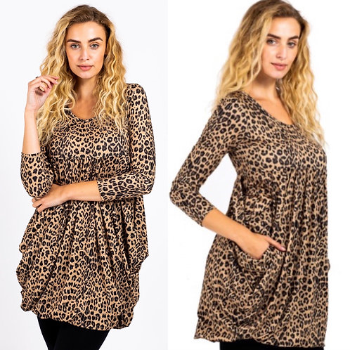 Karen Animal Print Tunic Dress