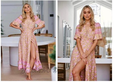Honeycomb Wrap Maxi Dress from the Aussie Collection