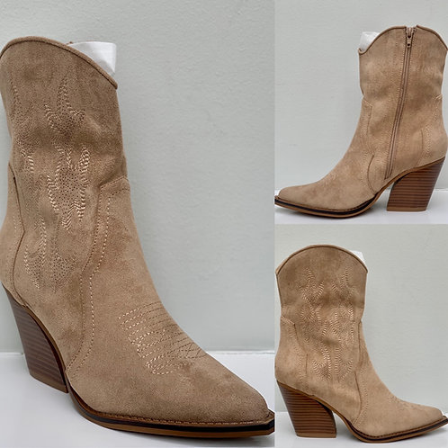 The Nude Suedette Ankle Boot
