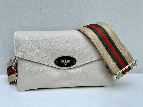 Toddy Leather Clasp Front Bag