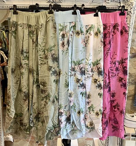 Floral Wrap Trousers