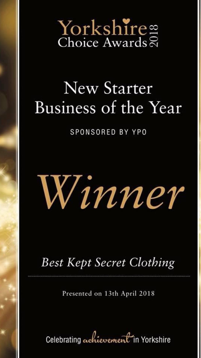 So excited to report that Best Kept Secret Clothing has won theStarter Business of the Year Award 2