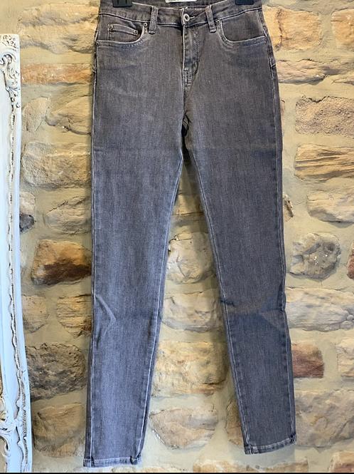 Dark grey bum lift jeans