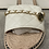 Thumbnail: White Quilted Flat Sandals with Chain Detail