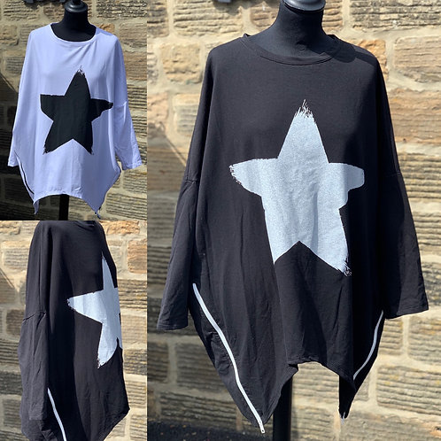 Star motif oversized sweatshirt