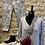Thumbnail: Lurex Trim Spot Fine Italian Knit V Neckline Top