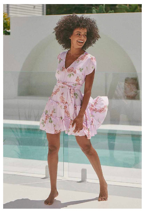 Dana Mini Dress in Wisteria from the Aussie Collection