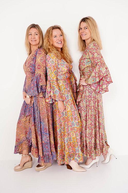 Mala Frill Wrap Dress