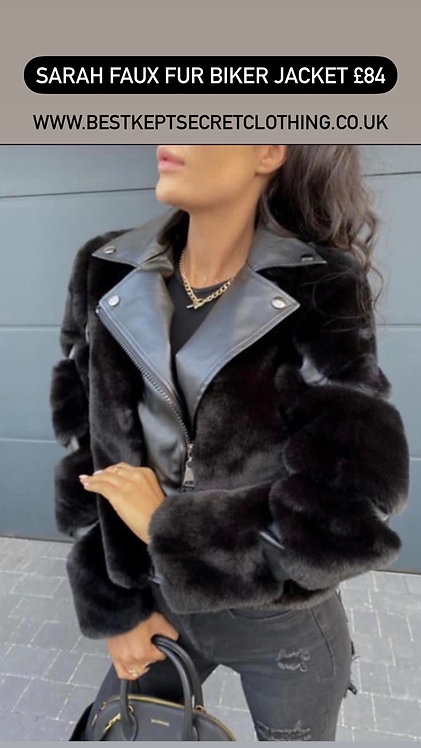 Sarah Faux Fur Biker Jacket