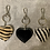 Thumbnail: Leather Heart Keyring Handbag Charm