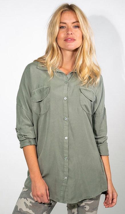 Oversized Soft Pocket Shirt