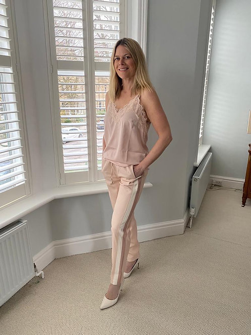 Rino & Pelle Faux Leather Trousers in Light Pink