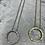 Thumbnail: Short necklace with circular sparkle diamanté necklace