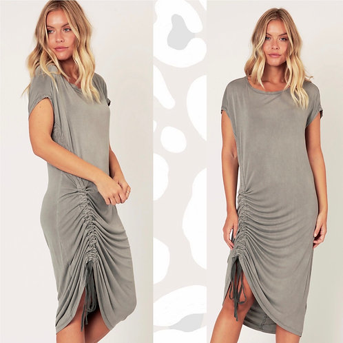 Jersey Maxi Dress with Ruched Hem Detail