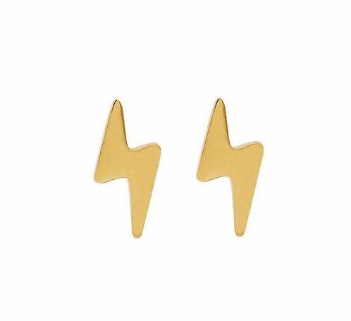 Lightning stud earrings in sterling silver